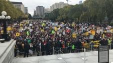 Edmonton legislature rally climate action