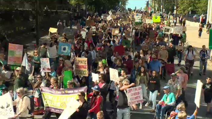 Halifax police say about 10,000 participated in the climate strike in the Maritime's largest city on Sept. 27, delivering an impassioned plea to lawmakers.