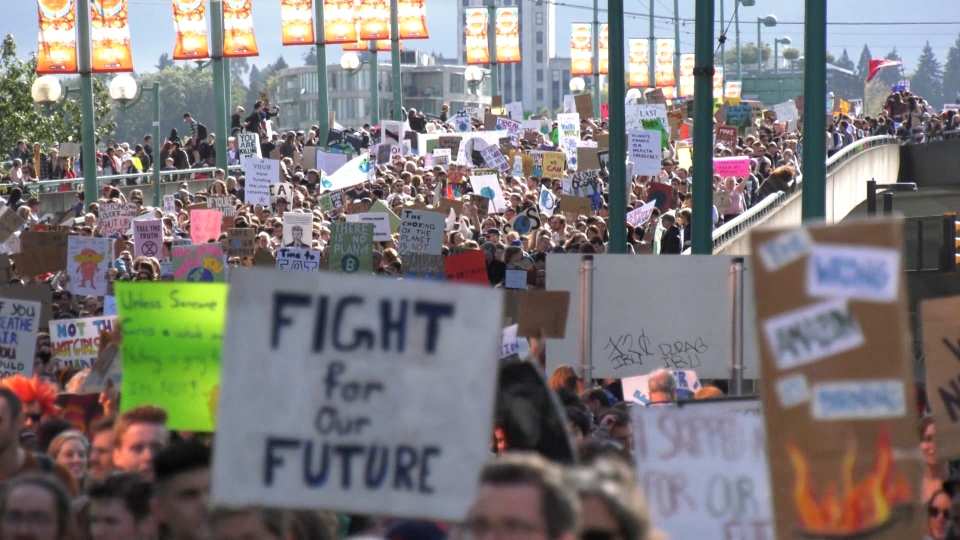 Climate march Vancouver