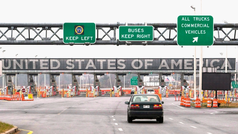 The United States border crossing is shown Wednesday, December 7, 2011 in Lacolle, Que., south of Montreal. THE CANADIAN PRESS/Ryan Remiorz