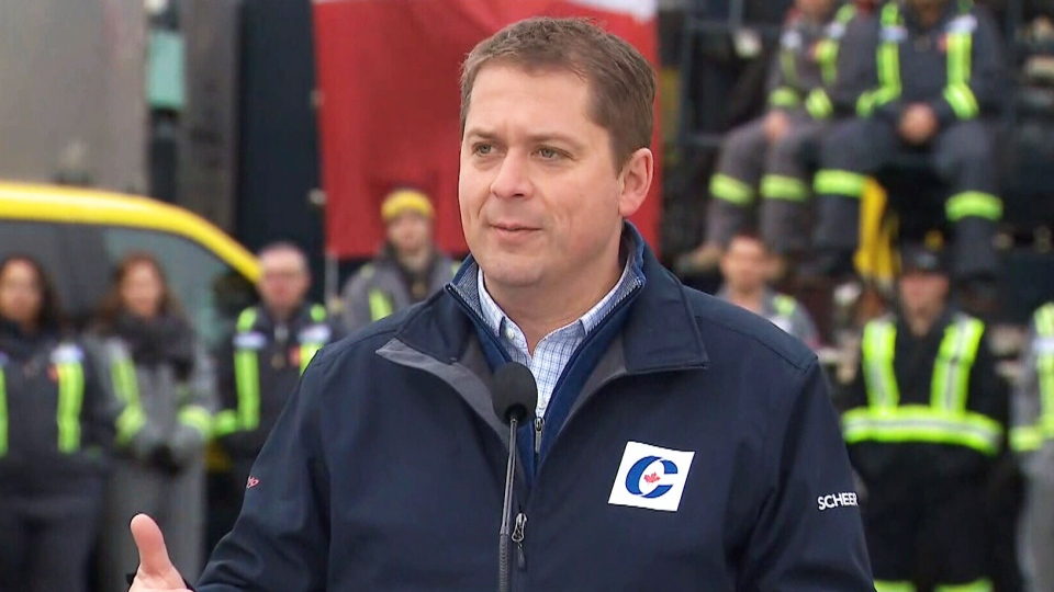 Conservative Leader Andrew Scheer made a stop in Edmonton on Saturday.