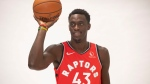 Toronto Raptors' Pascal Siakam poses during a photo shoot at the Raptors Media day in Toronto, Saturday, Sept. 28, 2018. Chris Young/The Canadian Press