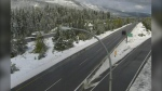 There may be flurries on the Coquihalla this weekend, Environment Canada says.