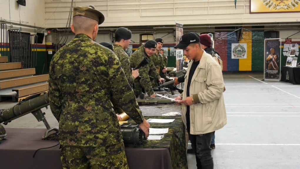 Canadian Armed Forces hosts job fair in Calgary