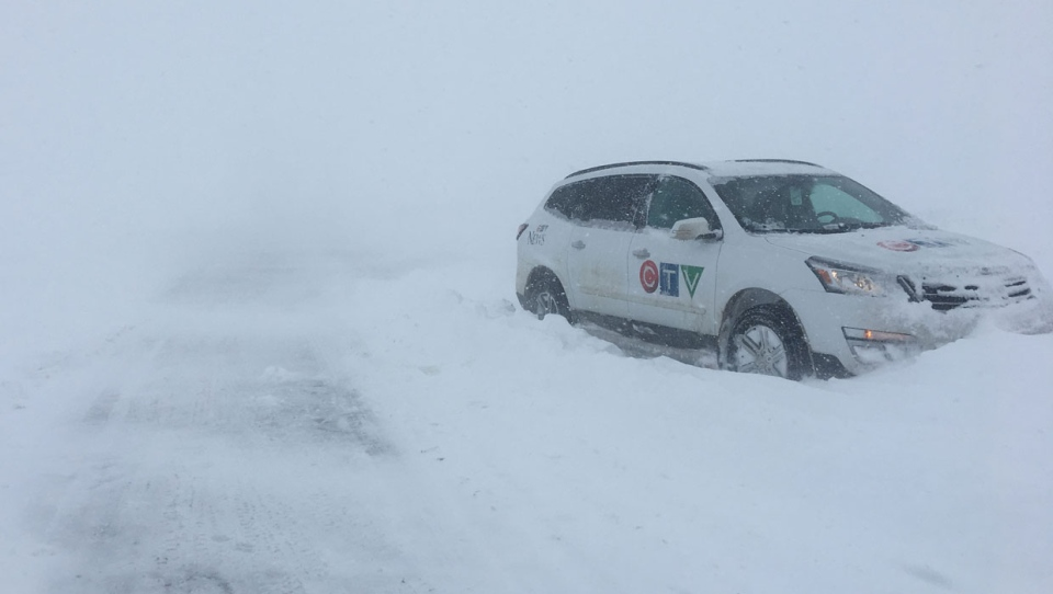 Highways south of the city were also very snowy as even CTV Lethbridge VJ Tyler Barrow got stuck on the road to Waterton. Not to worry, he safely got back to Cardston.