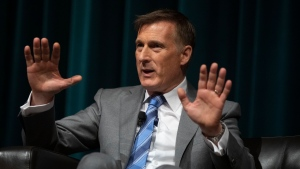 People's Party Leader Maxime Bernier speaks at an event in Hamilton, Ont., on Sunday, Sept. 29, 2019. THE CANADIAN PRESS/Chris Young