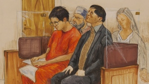 Rocky Rambo Wei Nam Kam is seen in a court sketch.