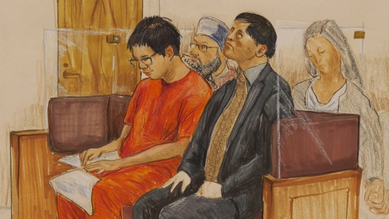 Rocky Rambo Wei Nam Kam is seen in a court sketch.