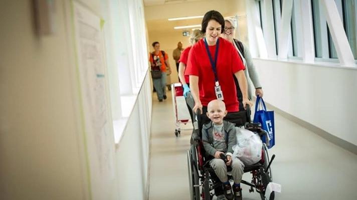 A patient moves into the Jim Pattison Children's Hospital. (Courtesy JCPH)