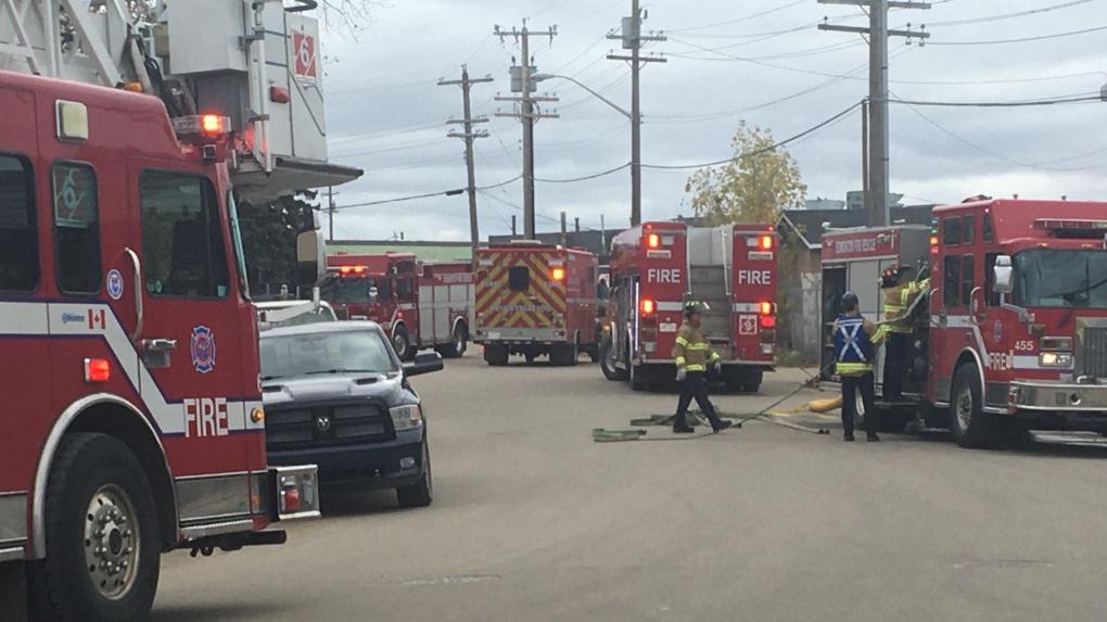 Thor Tire Distributors fire scene, Sept. 30, 2019