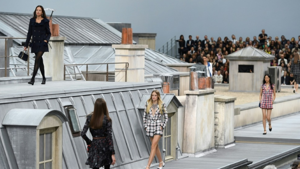 The incident took place as models presented creations by Chanel during the Women's Spring-Summer 2020 Ready-to-Wear collection fashion show at the Grand Palais (AFP)
