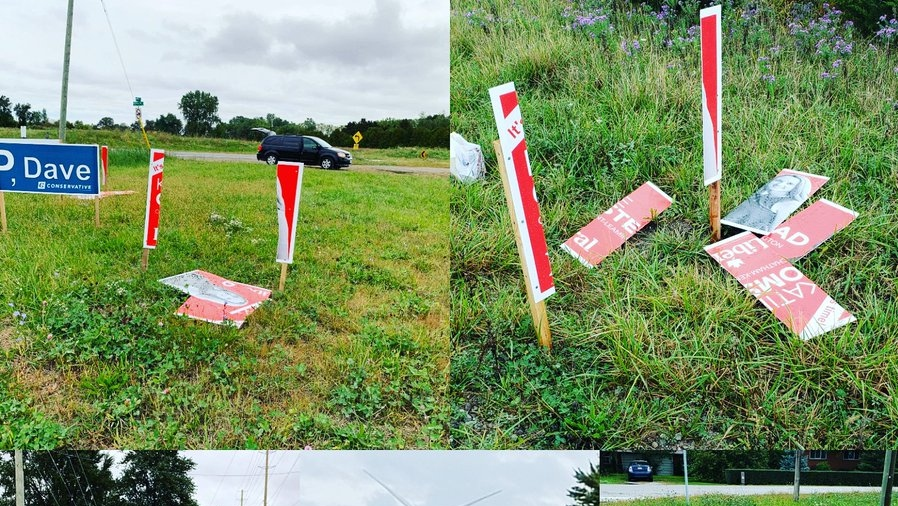 Vandalism of election signs reported in Chatham-Kent-Leamington