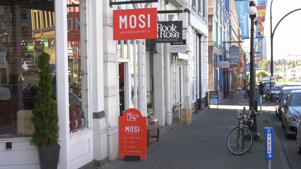 Mosi Gelato is located in downtown Victoria at 569 Johnson Street. (CTV News)