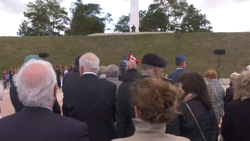 Canadian soldiers who fought in the little known Hill 70 battle in the First World War were honoured at the unveiling of a new memorial in France on Wednesday. (CTV)