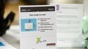 Elections materials are displayed at the Elections Canada distribution centre as workers prepare shipments in Ottawa on Thursday, Aug. 29, 2019. THE CANADIAN PRESS/Sean Kilpatrick