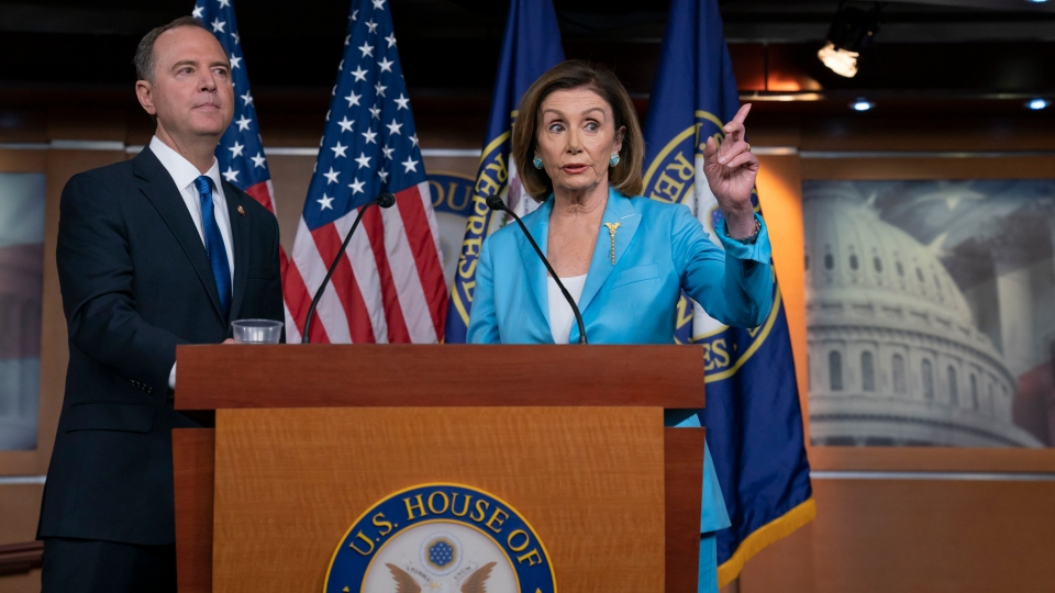 Nancy Pelosi and Adam Schiff