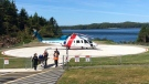 A new helipad designed for air ambulance helicopters opens at Tofino General Hospital. (Island Health)