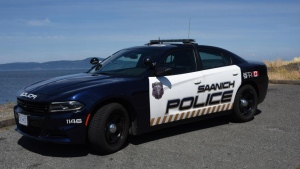 A Saanich police cruiser is seen in this undated file photo.