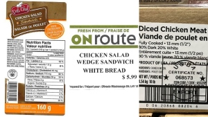 Three of the products under the food-recall warnings issued October 1, 2019 by the CFIA for possible Listeria contamination (CFIA)