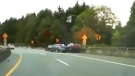 Distracted driver hits Vancouver police car