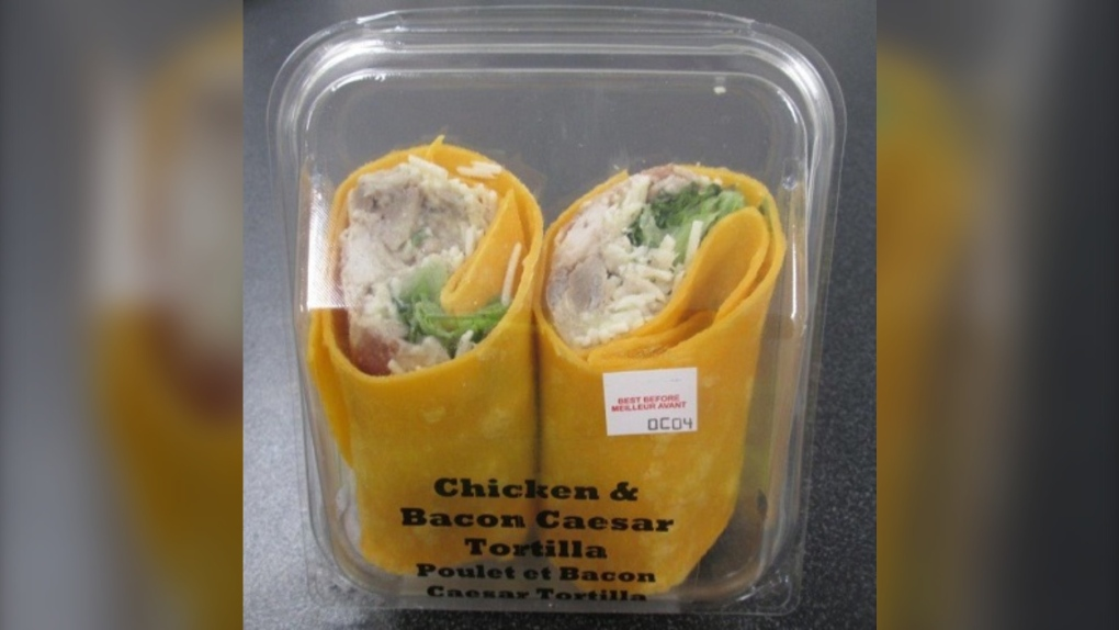 The Chicken & Bacon Caesar Tortilla was sold at Hudson News stores at YYC and YEG