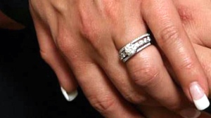 A wedding ring is seen in this undated file image.