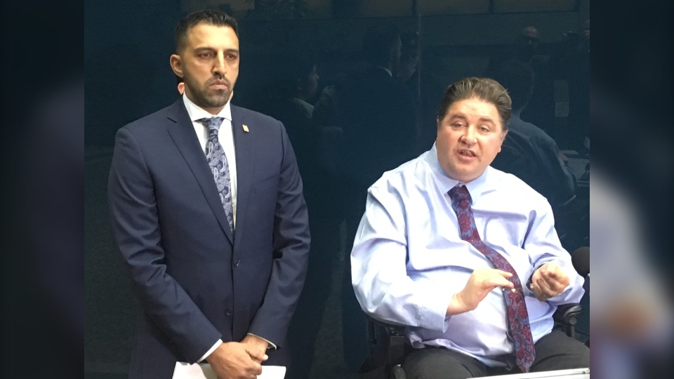 Ward 5 councillor George Chahal and Liberal candidate Kent Hehr addressed gun violence in Calgary on October 3, 2019