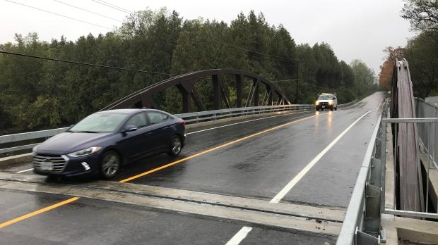 The new Niska Road bridge
