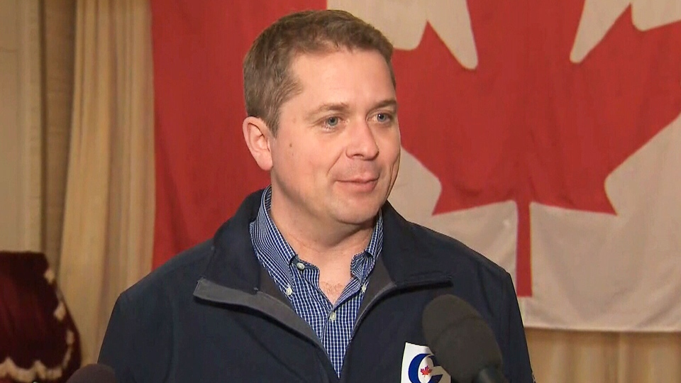 Conservative Leader Andrew Scheer speaks to the media on October 3, 2019. (CTV News)
