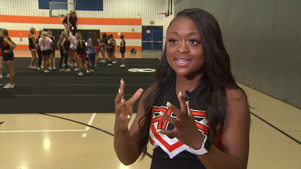 A Texas cheerleader jumped off a homecoming float to save a choking boy