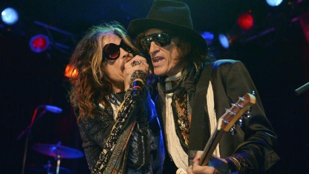 Steven Tyler and Joe Perry of Aerosmith perform