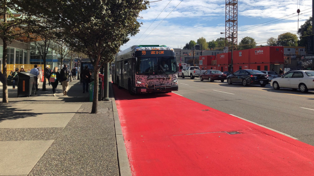 Red curb lanes in Vancouver
