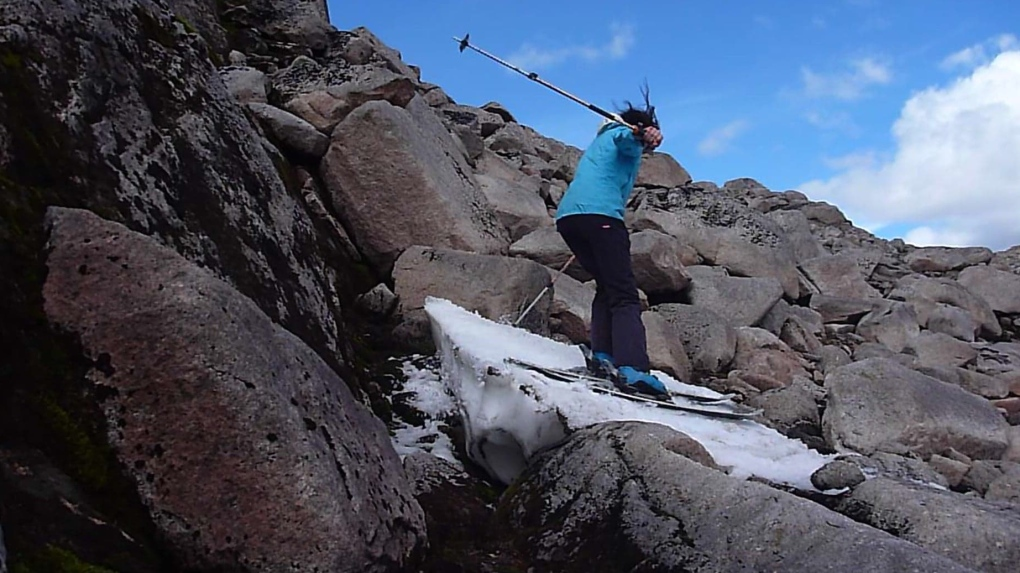 65-year-old Scotswoman finds snow to ski for 120 consecutive months