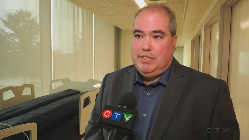 Health Sciences North CEO and President Dominic Giroux. October 3, 2019. (Ian Campbell/CTV Northern Ontario)
