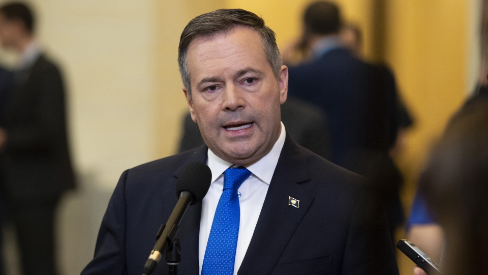 In this file photo, Alberta Premier Jason Kenney speaks to reporters in Ottawa on Thursday, May 2, 2019. THE CANADIAN PRESS/Justin Tang