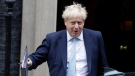 In this file photo, Britain's Prime Minister Boris Johnson leaves Downing Street to attend Parliament in London, Thursday, Oct. 3, 2019. (AP Photo/Kirsty Wigglesworth)
