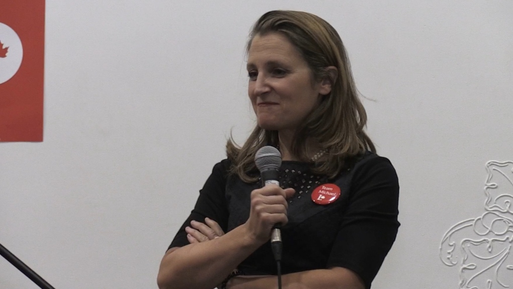 Chrystia Freeland attempts to drum up liberal support in Owen Sound