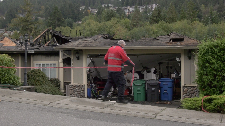 """""""It was an accidental fire as far as I'm concerned,"""" said Nanaimo Fire Department's Ennis Mond. (CTV)"""