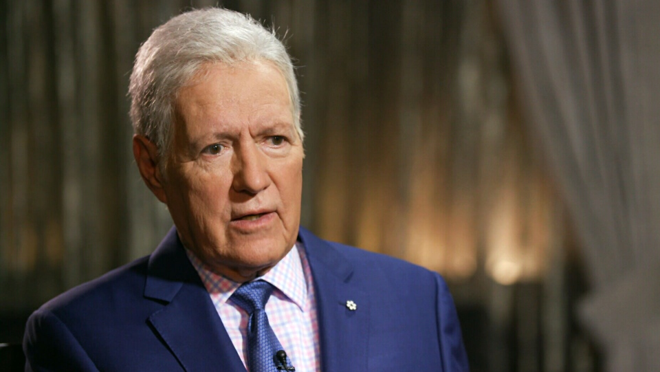 Alex Trebek speaks with CTV News in this file photo from October 2019.