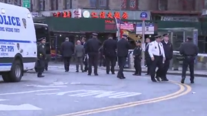 Investigators believe the victims, found early Saturday in at least three locations in or near Lower Manhattan, were hit with a metal object as they slept.