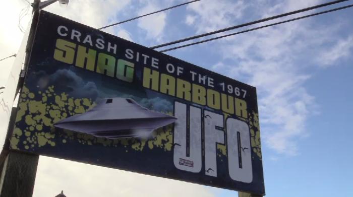 Shag Harbour UFO Musuem Sign