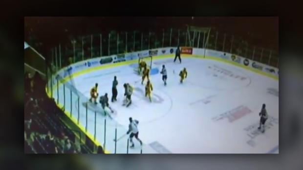 SJHL player cut by skate