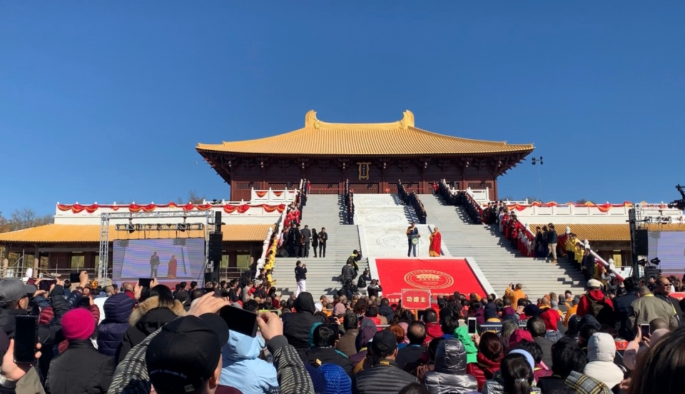 Conservative Leader Andrew Scheer was among the honoured guests participating in the opening of a massive Buddhist temple near Peterborough, Ont.