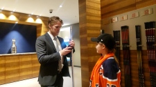 Connor McDavid and Taylor Friedel