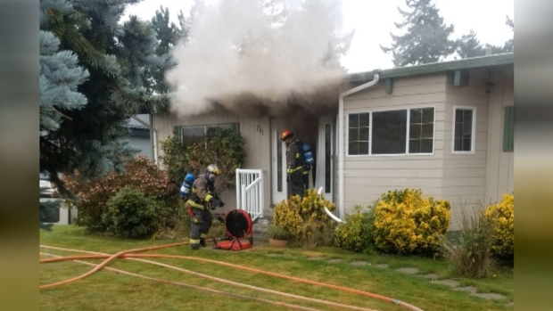 Campbell River house fire