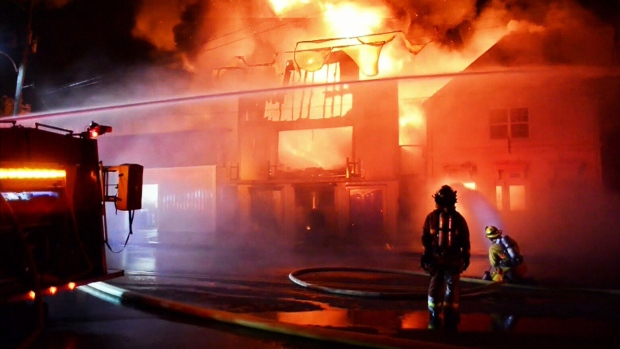 Fire destroys buildings in Canning, N.S.