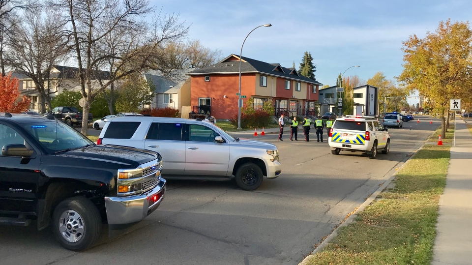 Police were called to the scene of a serious crash involving a vehicle and a pedestrian at 85 Street and 83 Avenue on Sunday around 5 p.m.