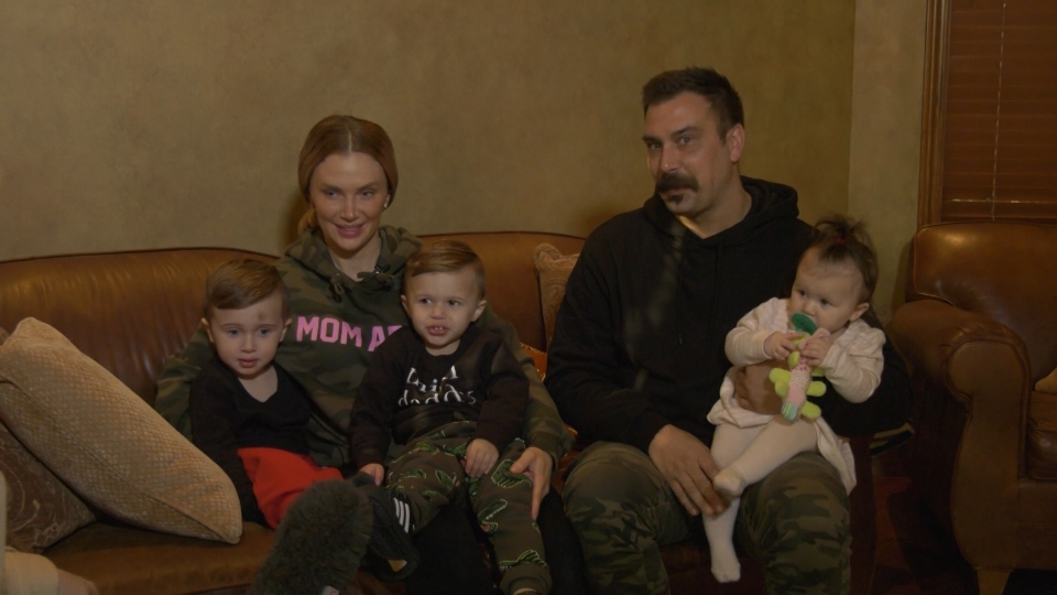 Sasha Risi has three children under the age of three and all were in the back seat of her car on Thursday. (CTV)