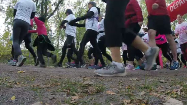 Joggers take on cancer at annual Run for the Cure