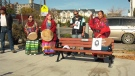 Jackie Crazybull and other murdered Indigenous women were honoured at Sunday's Justice for Jackie walk.